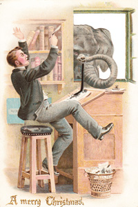 Bizarre Best Wishes – the Weird & Wonderful World of Victorian Christmas cards