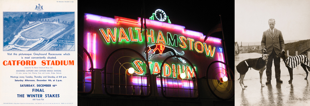 Neon Frontage at Walthamstow Dog Racing Stadium