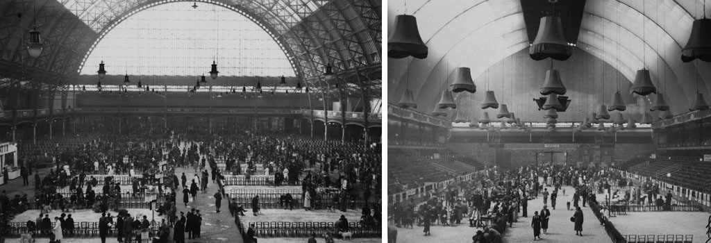 Crufts Dog Show at the Royal Agricultural Hall, Islington, London - February, 1938. Date: 1938