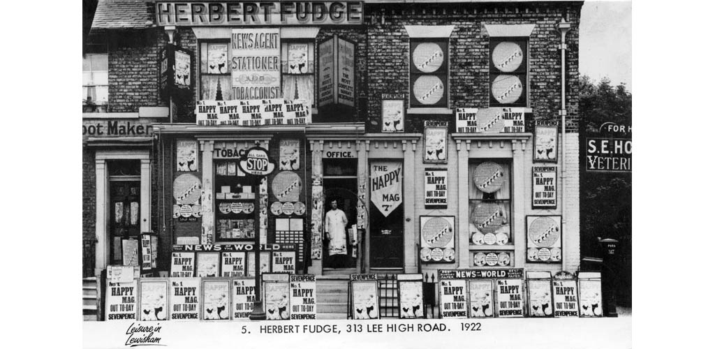 Herbert Fudge Newsagent 1922