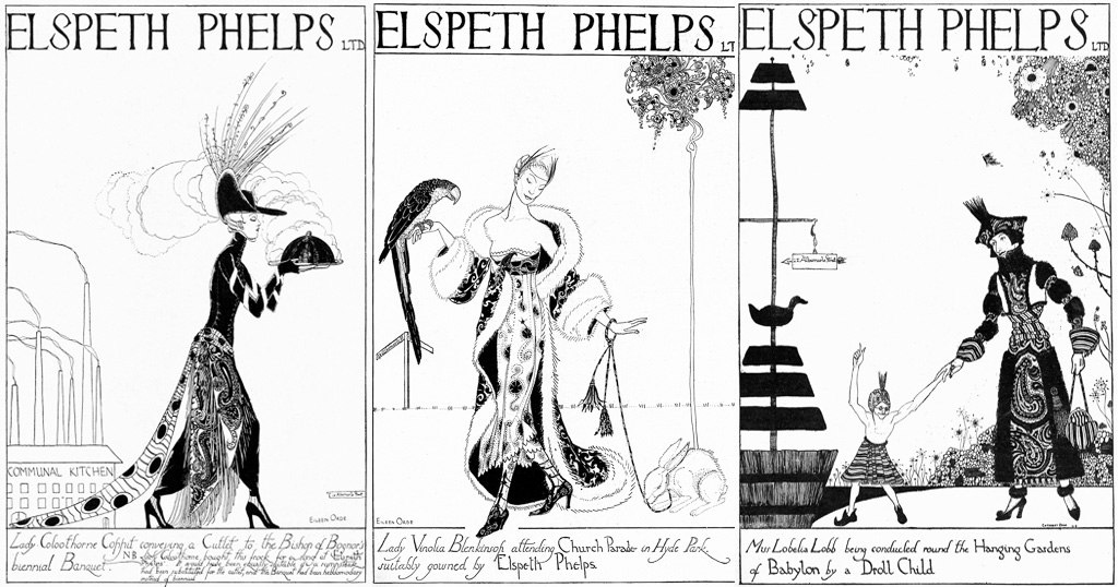 Advertisement for Elspeth Phelps, 1920s fashion