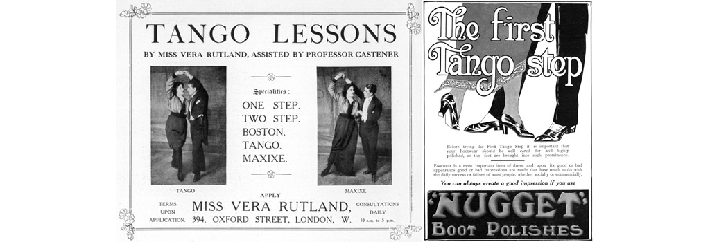An advertisement for tango lessons