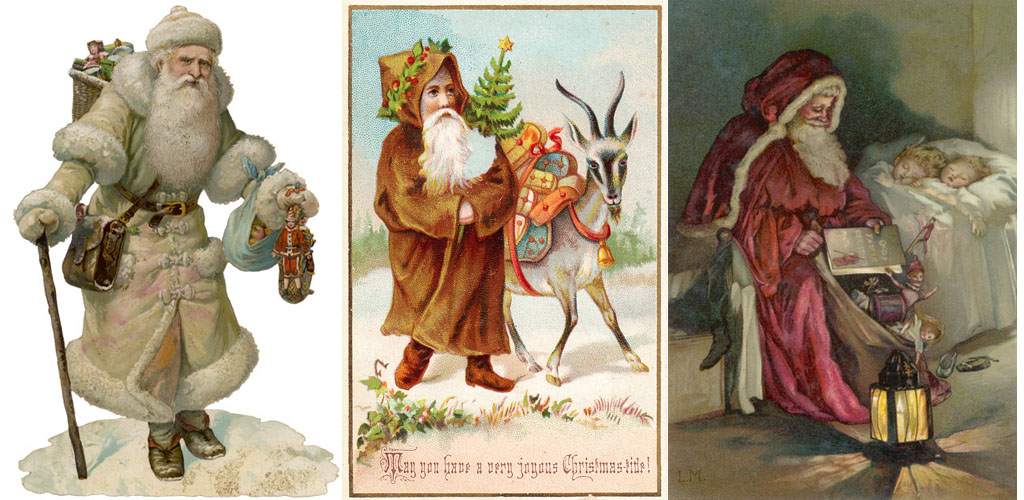 Santa Claus on a Christmas card
