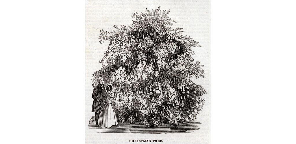 Christmas tree at the Temperance Hall, 1845