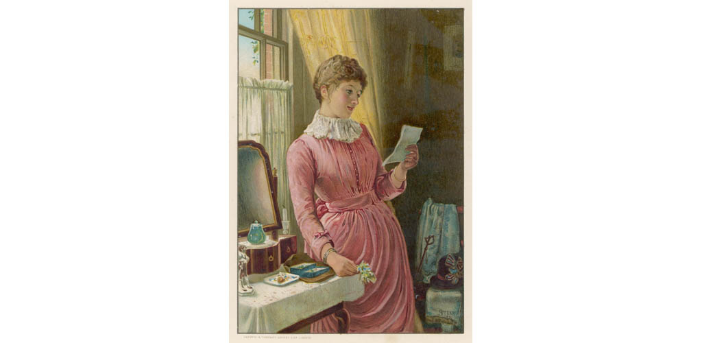 SHE READS A LETTER 1889