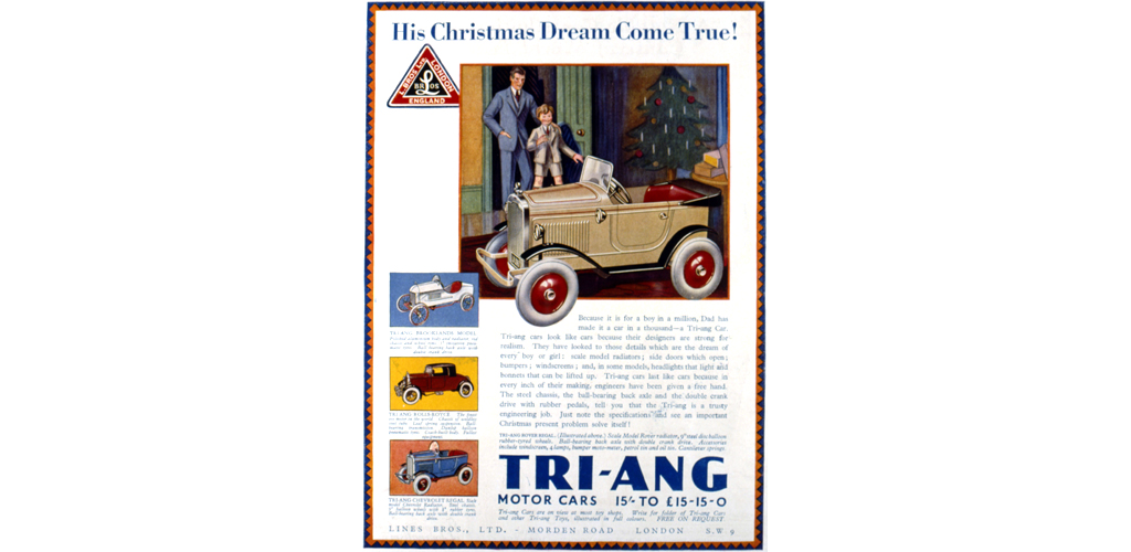 Advertisement for Tri-Ang toy model motor cars