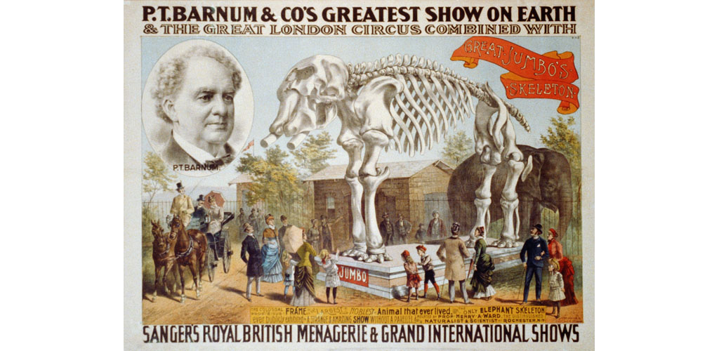 Poster for P.T. Barnum & Circus featuring