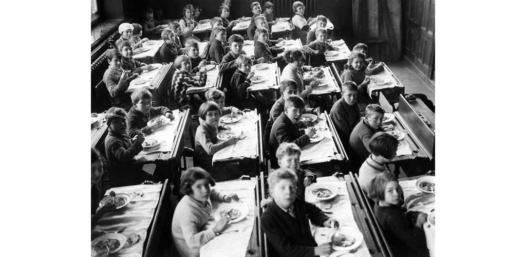 School class in Great Britain, 1930...