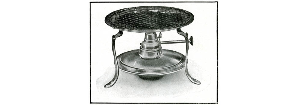 Stand and lamp for making toast 1909