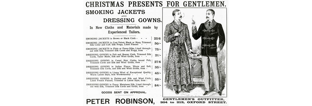 Advert for Peter Robinson, gentlemen's clothing 1895
