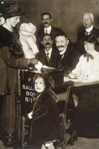 British women over 30 years  old allowed to vote for the  first time       Date: 14 December 1918