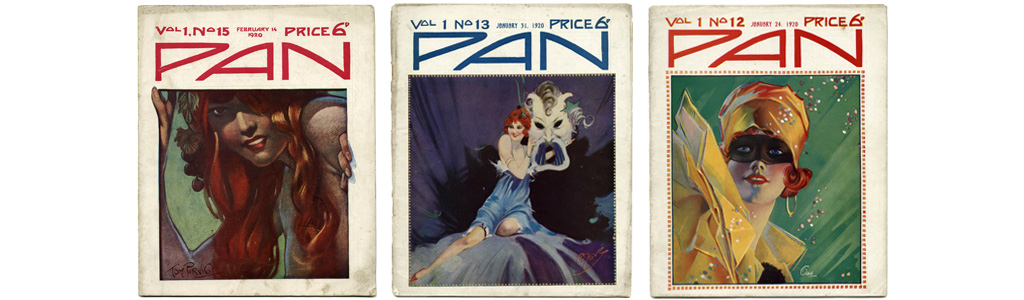 Covers of Pan Magazine, January and February 1920