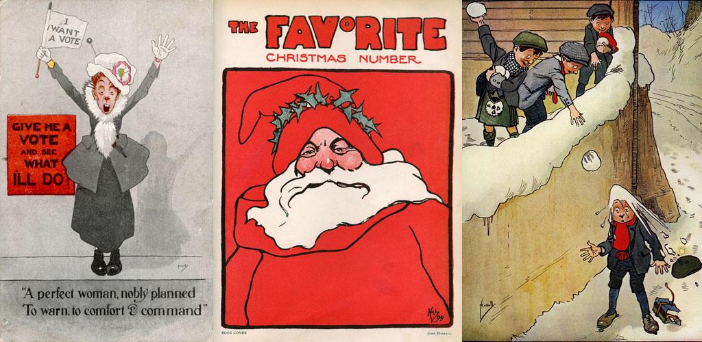 suffragette, santa, snowballing