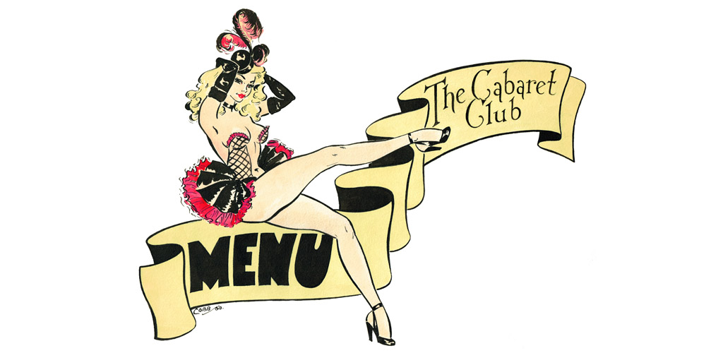 Cabaret Club Menu' - from Murray's Cabaret Club, 16-18 Beak Street, Soho, London.     Date: 1950