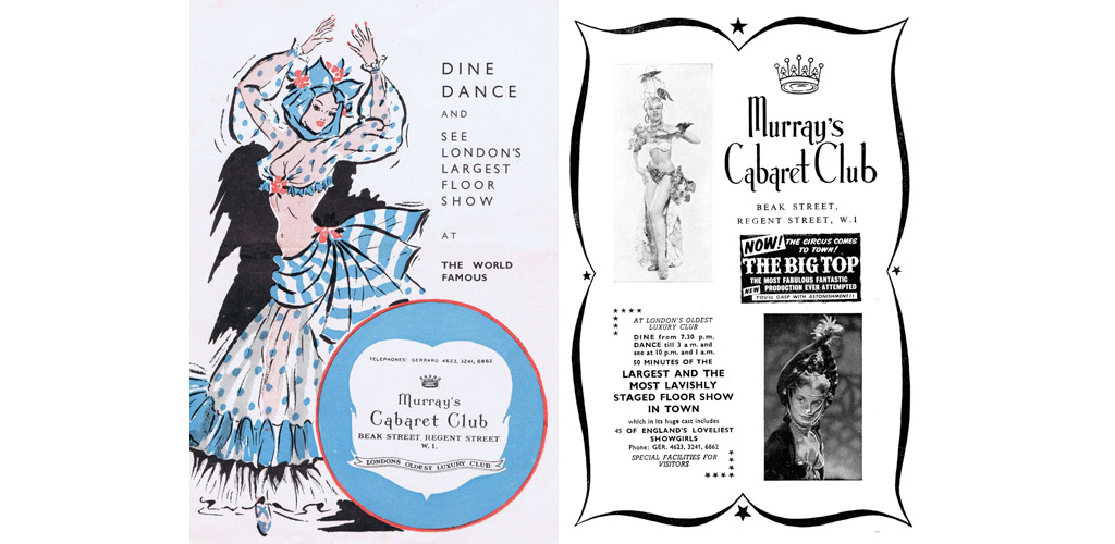 Programme for Murray's Cabaret Club