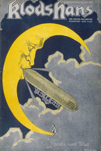 Count Zeppelin's next  destination - the Moon !         Date: 1908
