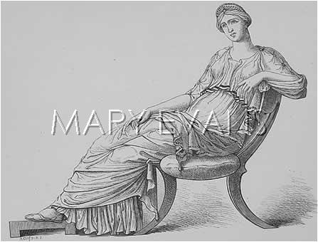 Mary Evans Picture No 10076459 - Seated Greek Woman.