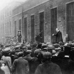 Mr Churchill rung down by a Suffragette's bell
