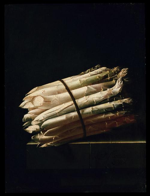 Still Life of Asparagus. Adriaen Coorte