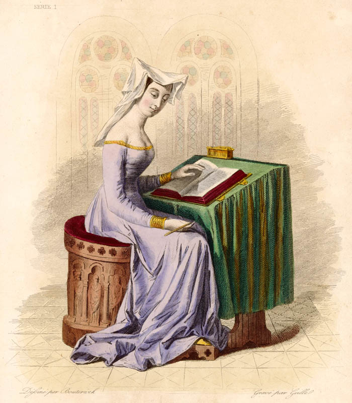 Christine de Pisan (1364?-1430), French writer.