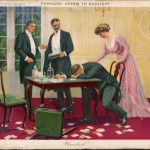 'Through Storm to Sunlight' - Our hero is invited by his friends to take part in a card game: needless to say, he loses more than he can afford   (2 of 4)  1909