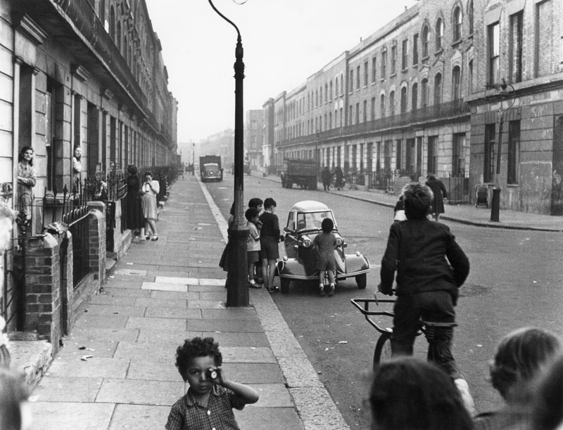 Children playing in Southam Street, London.      1956
