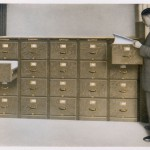 This is how data (and Mary Evans pictures !) are stored  in a scientific manner.  Of  course, if someone should invent the computer, this will be a glimpse of the past.  1916