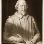 William Shakespeare (1564-1616), English playwright and poet, from the monumental bust at Stratford-upon-Avon.  early 19th century