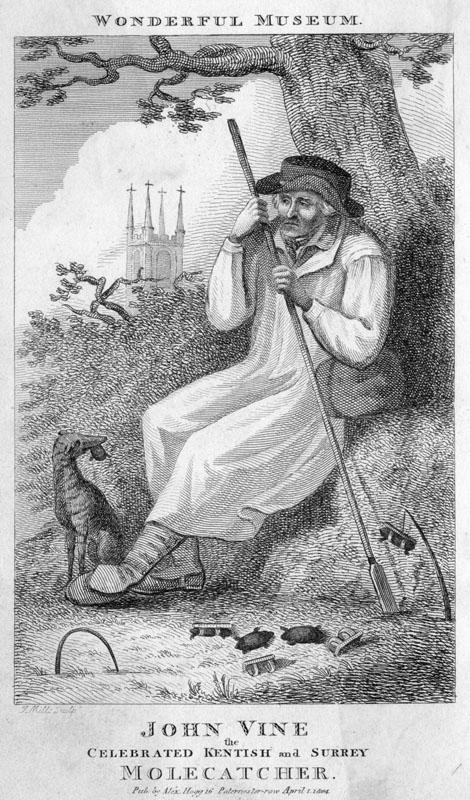John Vine, the celebrated  Kentish and Surrey Molecatcher.      Date: 1804