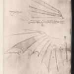 LEONARDO DA VINCI Sketches of wings for flying machines        Date: circa 1500