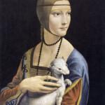 Leonardo da Vinci, 15.4.1452 - 2.5.1519, painting, Lady with an Ermine (portrait of Cecilia Gallerani), 1483-1486, oil on panel, 55.2 x 40.3 cm.   1483-1486