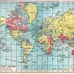 Map of the British Empire on Mercator's projection.   late 19th century