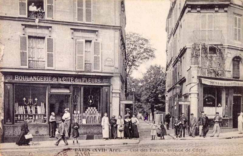 Avenue de Clichy and Cite des Fleurs,  in the 17th arrondissement       Date: 1906