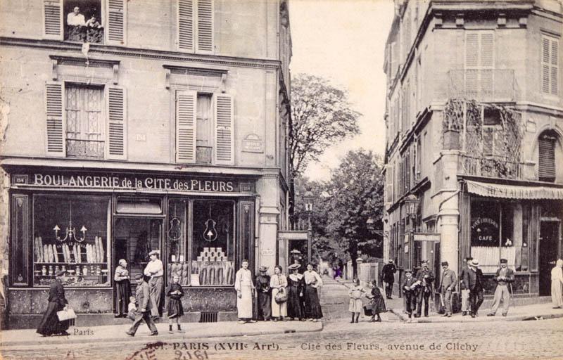 Avenue de Clichy and Cite des Fleurs,  in the 17th arrondissement       Date: 1906