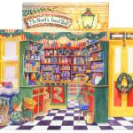 Christmas Food Store - Three Dimensional Advent Calendar - 'Mr Noel's Food Hall'  1995