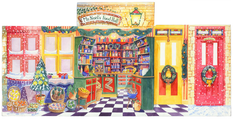 Christmas Food Store - Three Dimensional Advent Calendar - 'Mr Noel's Food Hall'  1995