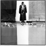 German artist, Joseph Beuys (1921-1986), at his exhibition at the Moderna Museet in Stockholm.  1971