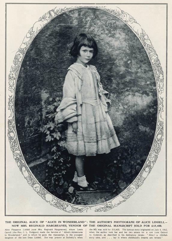 Photograph taken by Lewis Carroll (the Rev. C.L. Dodgson) of the original 'Alice' of 'Alice in Wonderland' - Alice Liddell, c.1862.  circa 1862
