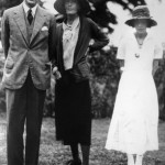 T.S. ELIOT with Virginia Woolf and Vivienne Eliot, 1932.