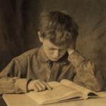 Young Boy Studying, Lewis Hine for National Child Labor Committee, 1924     Date: 1924