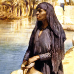Egyptian woman with water jug by the River Nile   1900s / 1902