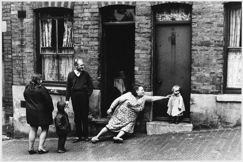 A street scene in St Ann's, a working class area of Nottingham.   1969