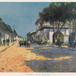Mexico City (Tenochtitlan):  a quiet street        Date: early 20th century
