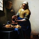 Johannes Vermeer (1632-1675). Dutch painter. The Milkmaid, c, 1660. Rijskmuseum. Amsterdam. Netherlands.