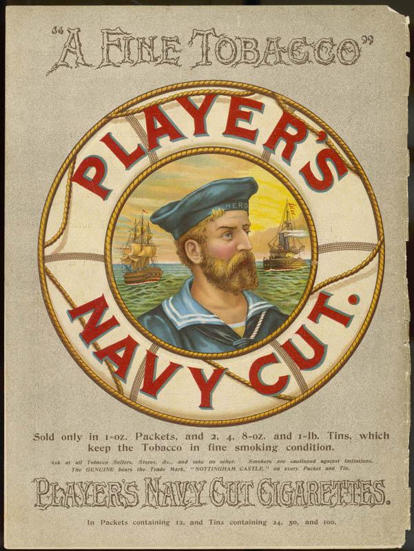 Player's Navy Cut Cigarettes -  A Fine Tobacco       Date: 1895