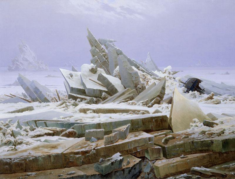 fine arts, Friedrich, Caspar David (1774 - 1840), painting, The Polar Sea, 1823/1824, oil on canvas, Sea of Ice, Das Eismeer, Die gescheiterte Hoffnung,