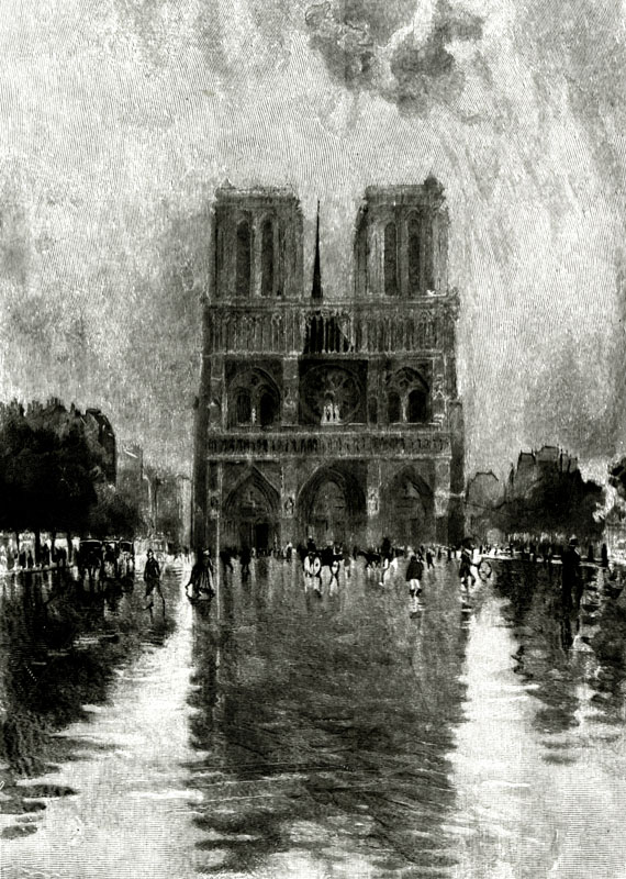 Paris, France - Notre-Dame.     Date: 1906