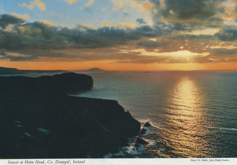 Sunset at Horn Head, County Donegal, Republic of Ireland.     Date: